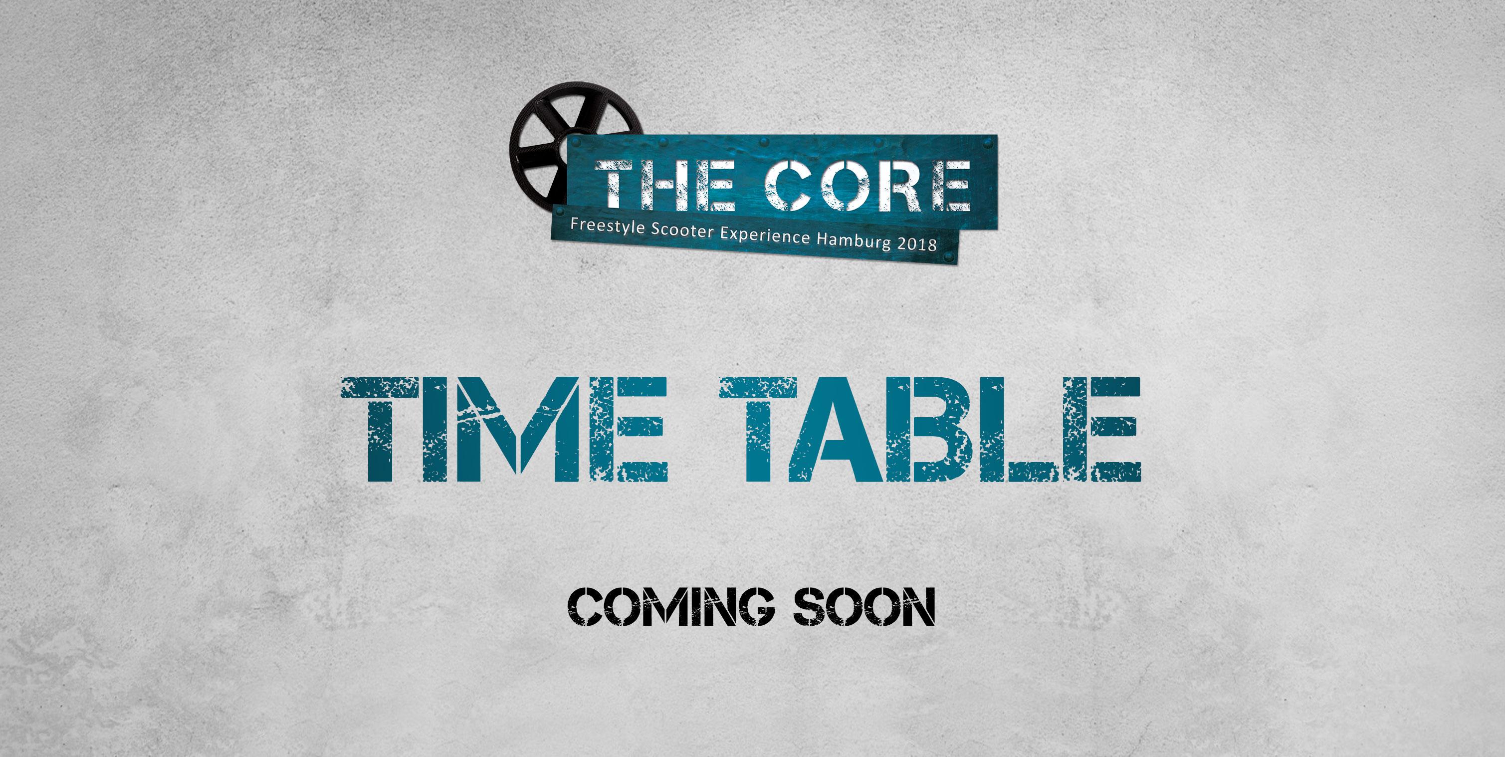 THECORE_2018_PRE-Timetable
